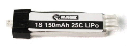 Rage RC 150mAh 1S 3.7V 15C LiPo Battery, Ultra-Micro Connector (Spirit of St. Louis)