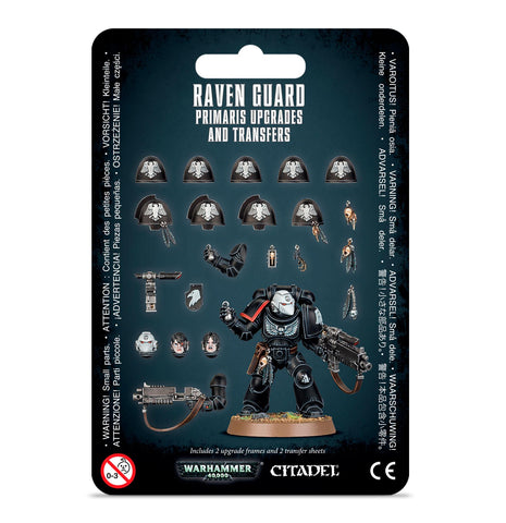 Warhammer 40K Raven Guard Primaris Upgrades and Transfers