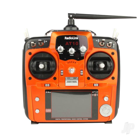 RadioLink AT10 2.4GHz 12-Channel Transmitter with Receiver (Orange)