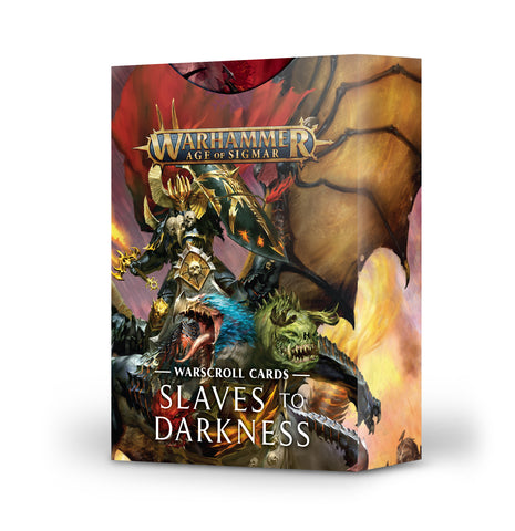 Warhammer Age of Sigmar Warscroll Cards: Slaves to Darkness