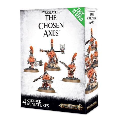 Warhammer Age Of Sigmar Easy To Build: Fyreslayers The Chosen Axes