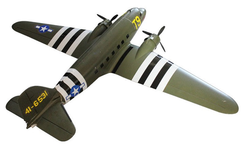 DYNAM C47 DAKOTA TWIN RAF 1470MM W/O TX/RX/BATT