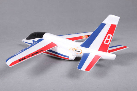 FMS Free Flight Alpha Glider (600mm) - Blue/Red