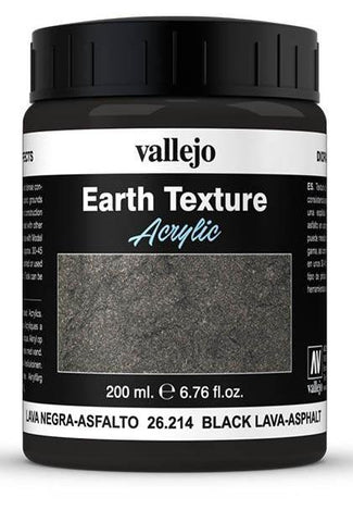Vallejo Earth Texture Black Lava/Asphalt