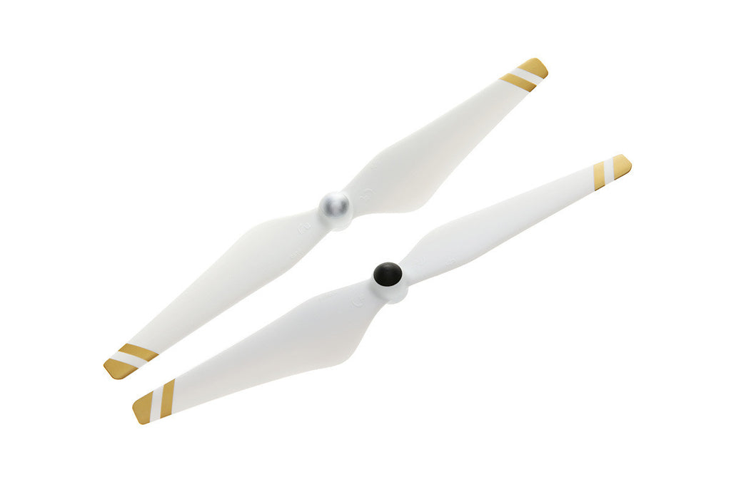 DJI Phantom 3 9450 Self-tightening Propellers (White with Gold Stripes)