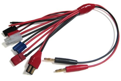Etronix 4.0mm Charger Adaptor Cable (Deans/Futaba/JST/Tamiya/EC3/Traxxas)
