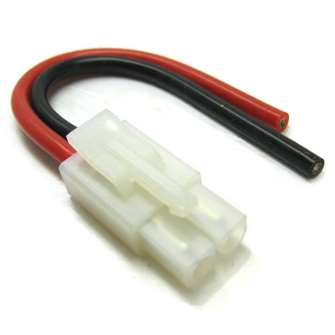 ETRONIX MALE TAMIYA CONNECTOR WITH 10CM 14AWG SILICONE WIRE