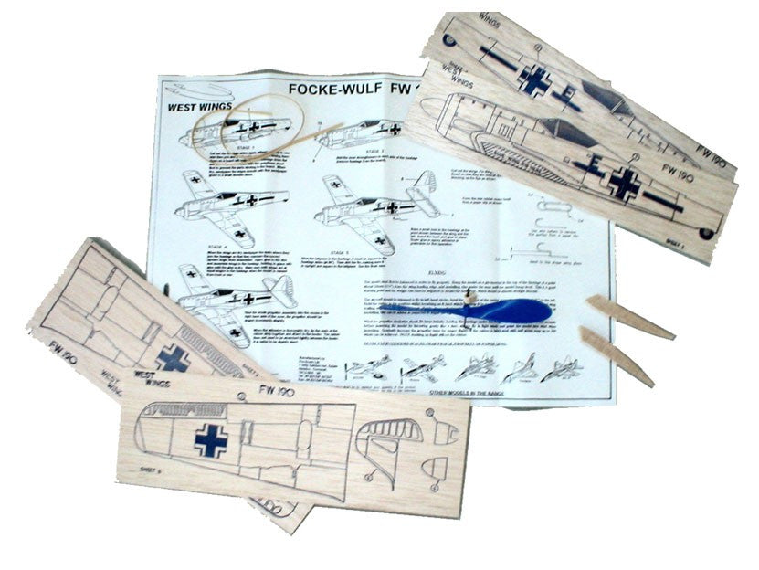 West Wings Focke Wulf 190 Balsa Kit