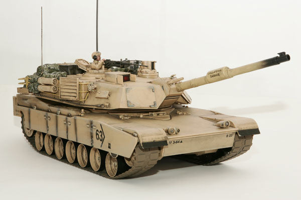 Hobby Engine M1A2 Abrams Battle RC Tank - Desert