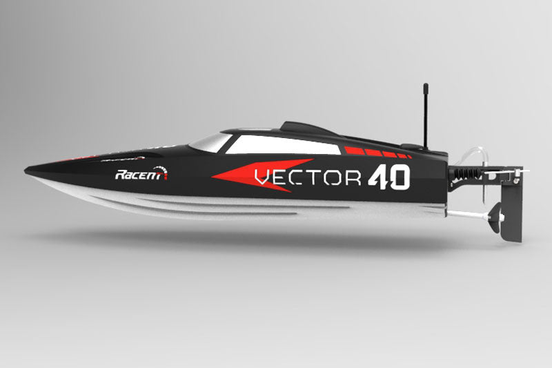 Volantex Vector 40 Brushless RC Boat (Black) - RTR