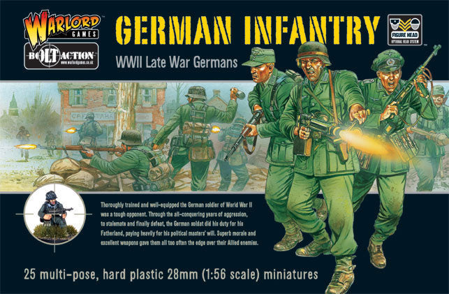 Warlord Games WWII German Infantry Plastic Model Kit
