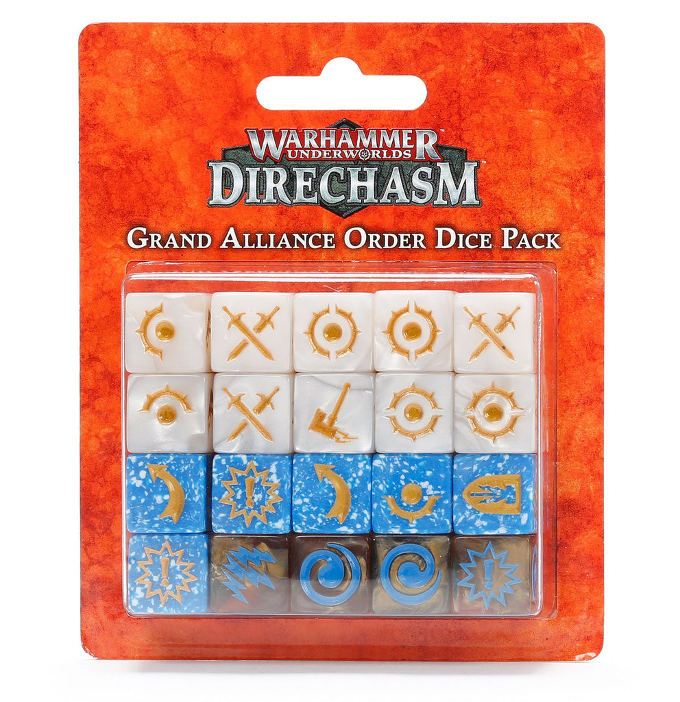 Warhammer Underworlds: Direchasm Grand Alliance Order Dice Pack
