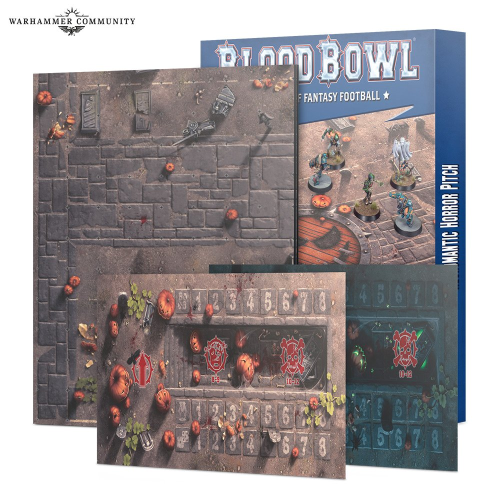 Blood Bowl - Necromantic Team Pitch & Dugouts