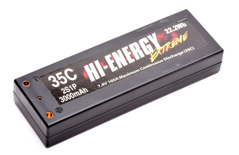 Hi-Energy 2S1P 3000mAh 35C Car Li-Po