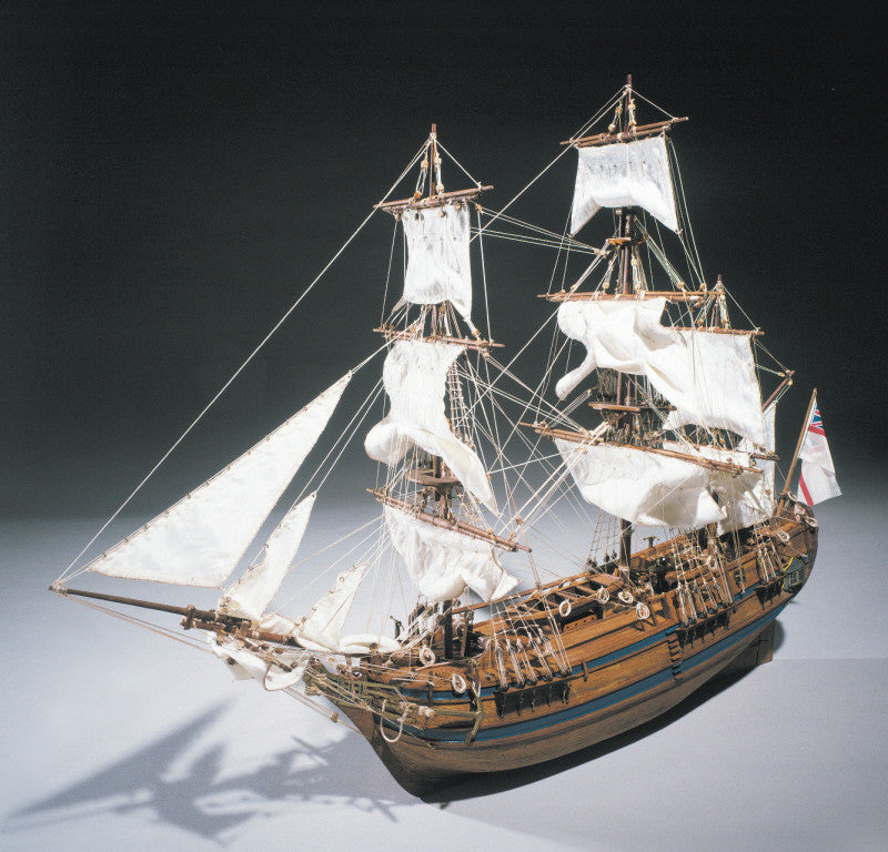 Wooden model ship kit of the Bounty made by Sergal