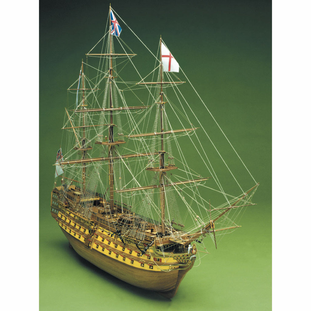Model boat kit of HMS Victory made of wood