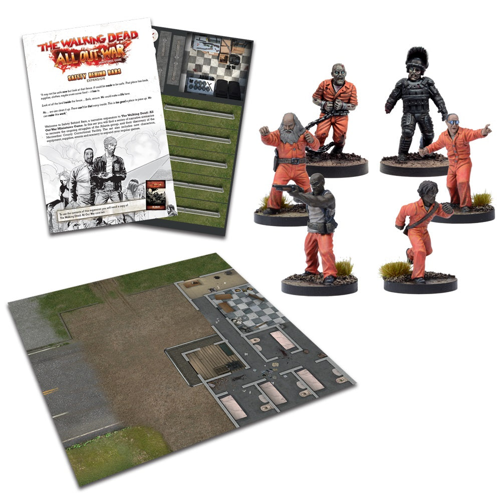 The Walking Dead:  All Out War Safety Behind Bars Expansion
