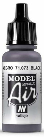 Vallejo Model Air Black Metalic 17ml