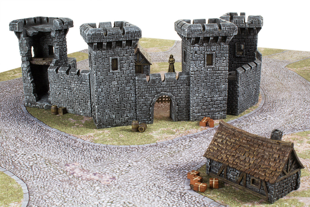 Gamemat Eu 28mm Medieval Castle Set Terrain Set For