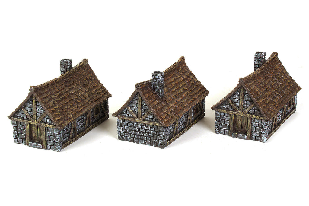 Gamemat.eu 28mm Medieval Houses Terrain Set for Warhammer, Age of Sigmar