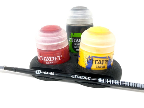 Contrast Paint & Wash Pot Holder for Citadel size paints.