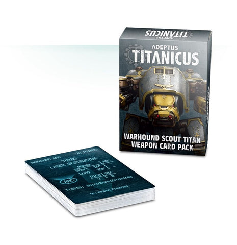 Adeptus Titanicus Warhound Scout Titan Weapon Card Pack