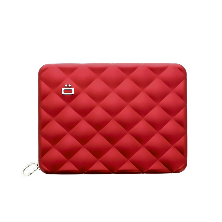 Ögon Red Quilted Passport Wallet