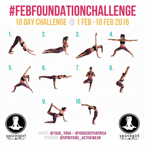 Feb foundation yoga challenge calendar
