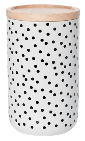 CANISTER Tall Black Spot