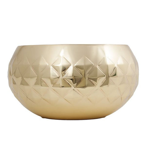 DIAMOND BOWL Brass