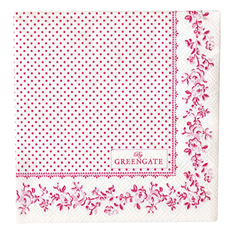 PAPER NAPKIN Audrey Raspberry Small