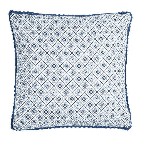 CUSHION COVER Quilted Sadie Blue