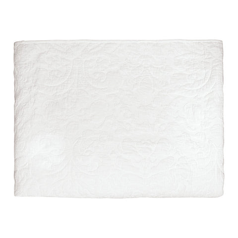 QUILT Plain White with White Stitching