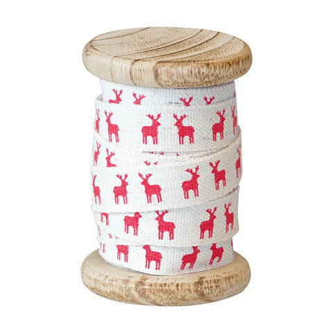 RIBBON Reindeer Red