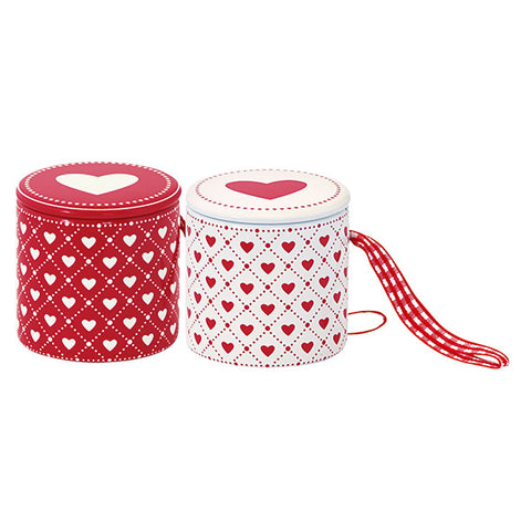 TIN DRUM Haven Red Set of 2