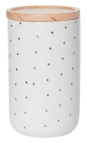 CANISTER Tall Gold Spot