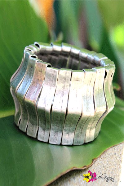 Gypsy Silver Metal Expandable Cuff