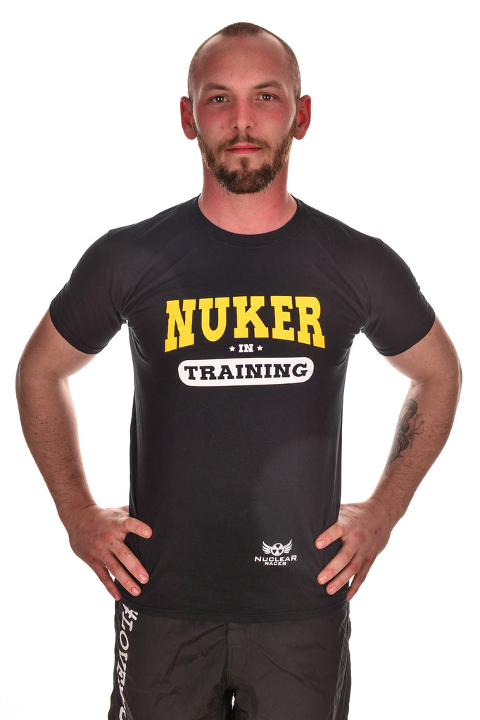 Mens Black Nuker in Training Technical T-shirt Clearance 50% Off