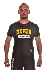 Mens Black Nuker in Training Cotton T-shirt Clearance 50% Off