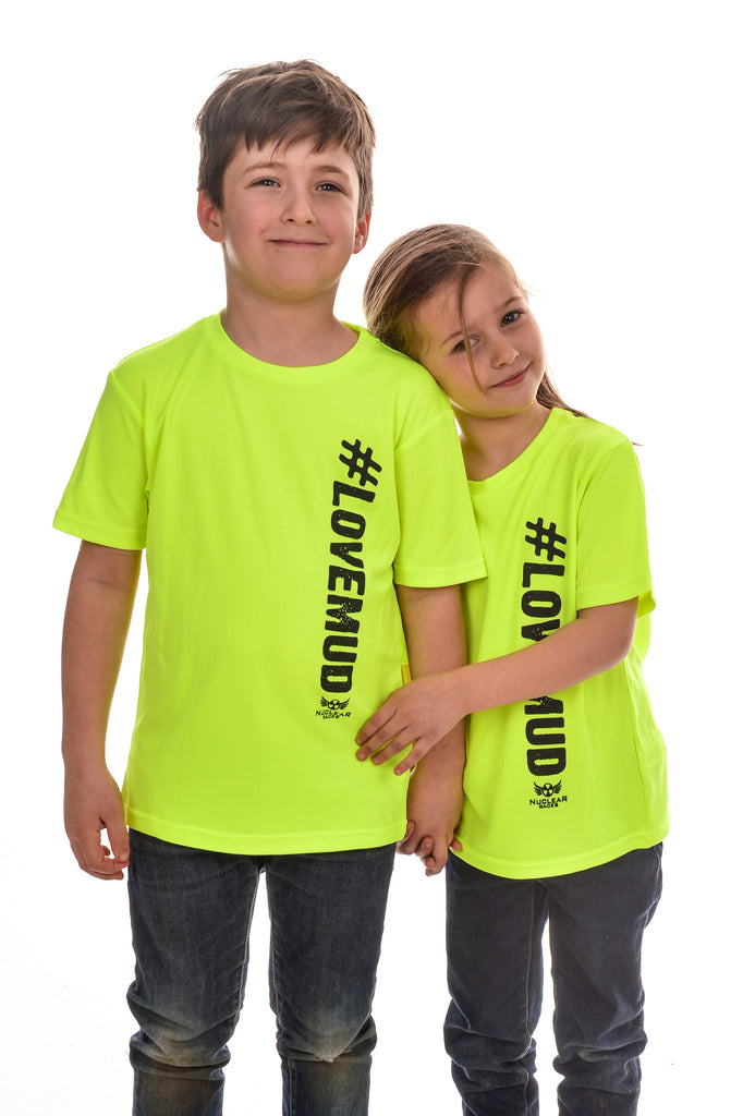 Kids Hi-Viz #LoveMud Technical T-shirt