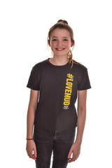 Kids Black #LoveMud Technical T-shirt
