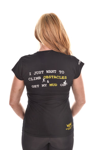 Ladies Black 'I just want to.......' T-shirt