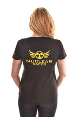 Ladies Black #LoveMud Technical T-shirt