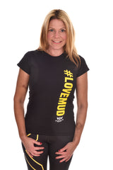 Ladies Black #LoveMud Cotton T-shirt Clearance 50% Off