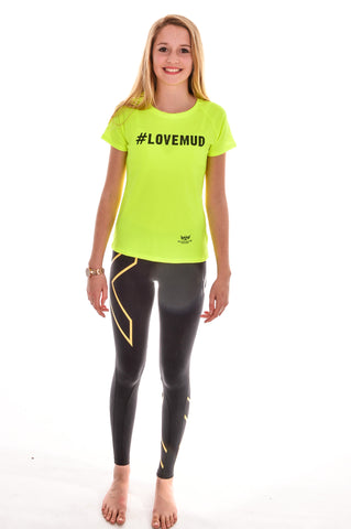 Ladies Hi-Viz #LoveMud Technical T-shirt