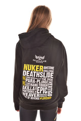 Black Unisex Nuclear Races Obstacle Hoodie