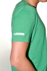 Mens Green Triblend T-shirt