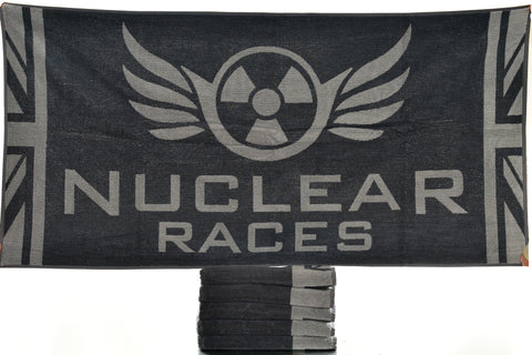 Grey Nuclear Races Towel