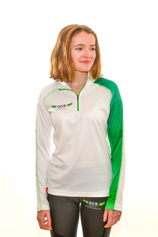 OCR World Championships Ladies Longsleeve Spearhead Zipneck Top