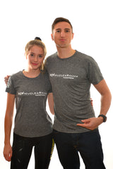 Mens Grey 'Be anything but predictable' Technical Tshirt